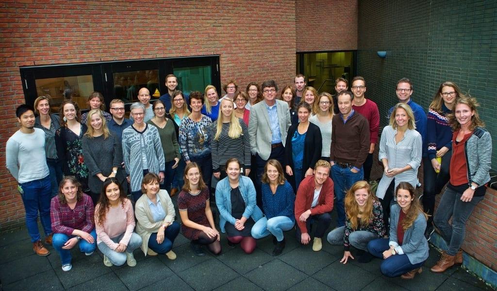 groepsfoto van de medewerkers van MS Centrum amsterdam 2019